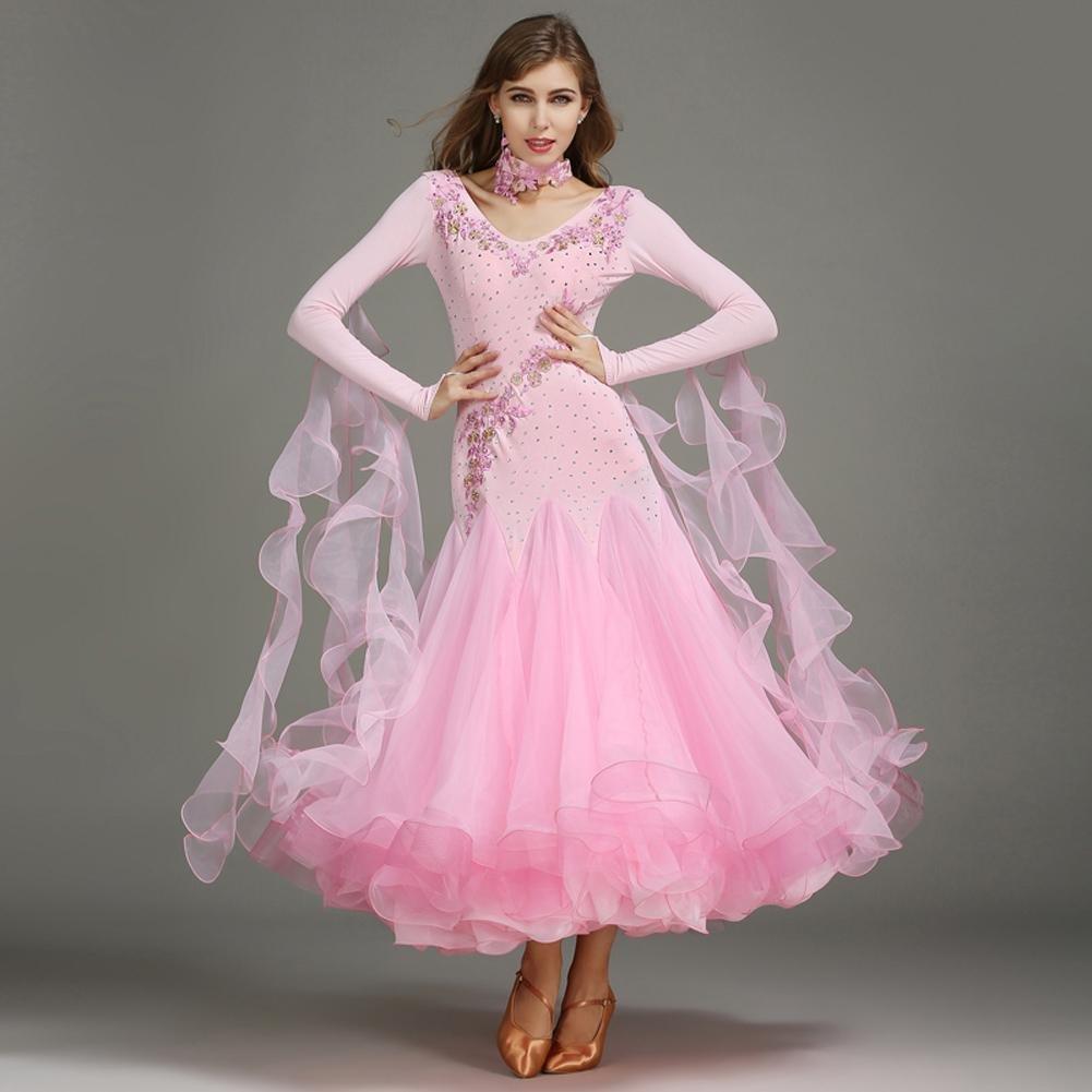 Modernes Modernes Modernes Tanz Outfit Für Frauen Lange Ärmel Walzer Kleider Wettbewerb Kleidung B07BHNSFFD Bekleidung Guter Markt 3295cb