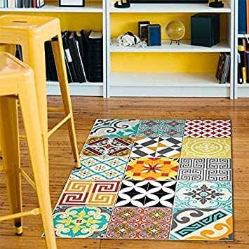 Ambiance Tapis vinyle carrelages mixtes - 60 x 100 cm: Amazon.fr ...