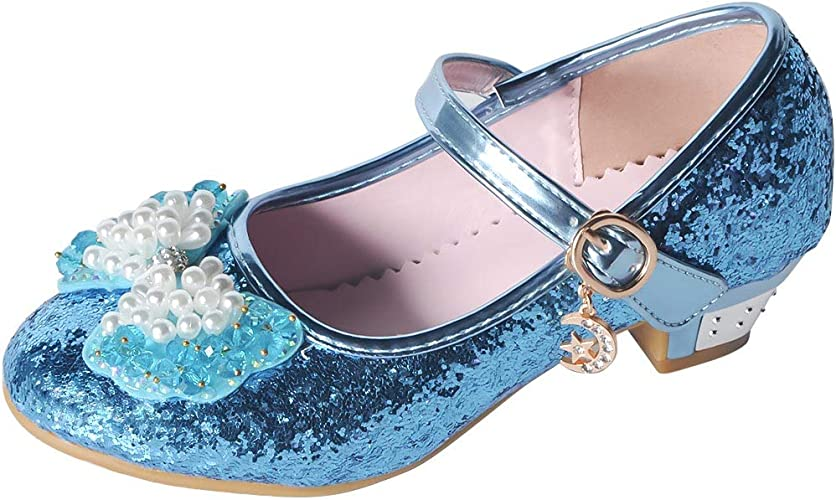 YIBLBOX Infant Toddler Baby Girls PU Leather Mary Jane Princess Dress Flat Shoes with Flowers