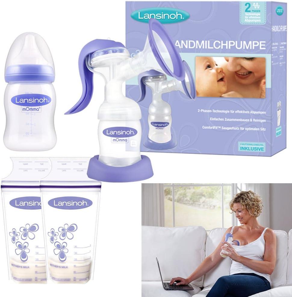Lansinoh de leche manual bomba de 2 fases & Tecnología de membrana ...