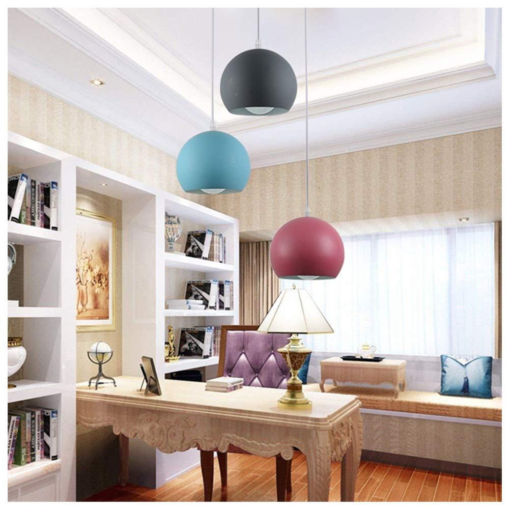 雪丽的家居 3つの錬鉄製の天井灯モダンなミニマリストの備品マカロンキャラクターペンダントライトの高さ調整可能   B07TQRWP8Z