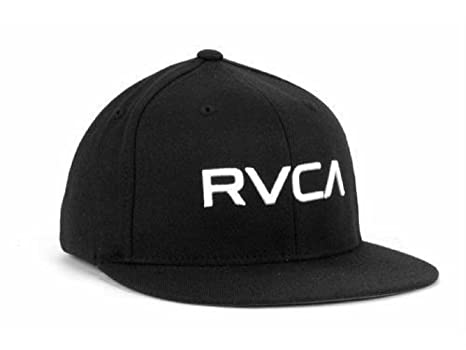 3c6a5a8c Image Unavailable. Image not available for. Color: RVCA Home Run Flat Brim Flexfit  Hat ...