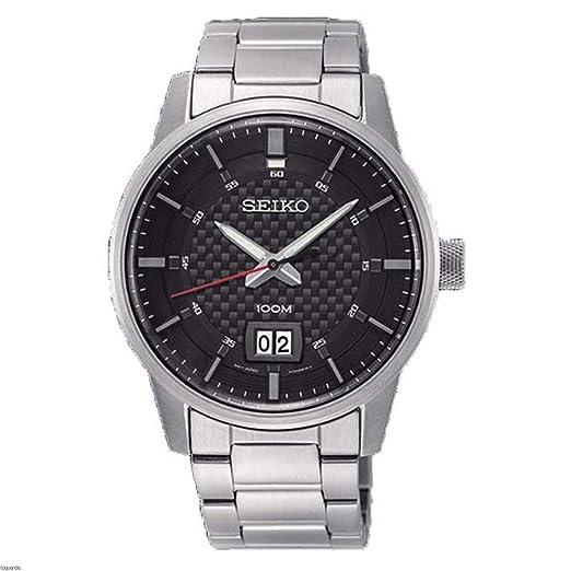 Seiko Reloj Analogico para Hombre de Cuarzo con Correa en Acero Inoxidable SUR269P1: Seiko: Amazon.es: Relojes