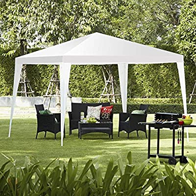 HAPPYGRILL Outdoor Patio Canopy Party Wedding Tent Commercial Instant Gazebo Tent 10x10FT White : Garden & Outdoor