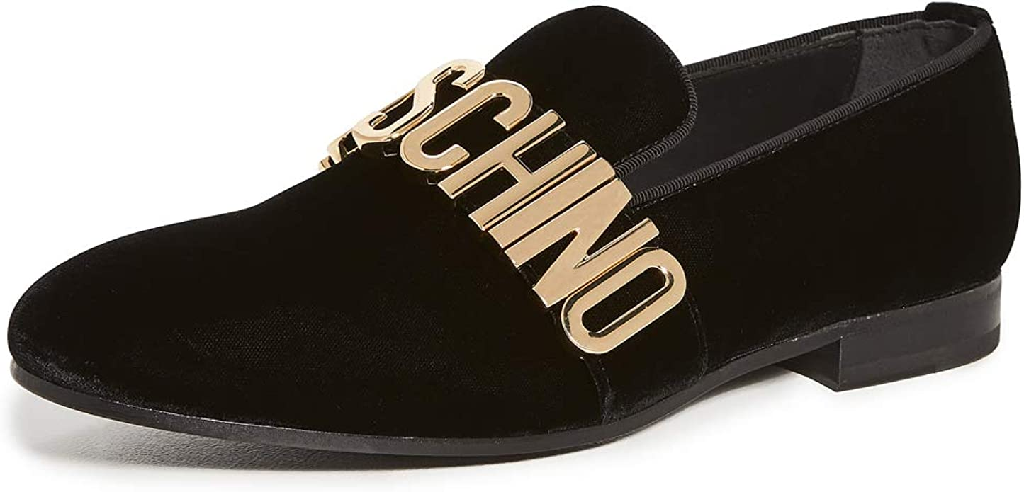 MOSCHINO Men's Logo Loafers   Loafers