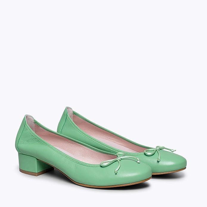 Confort miMaO Chaussures Ballerines /à Talon pour Femme Ballerines en Daim Made in Spain