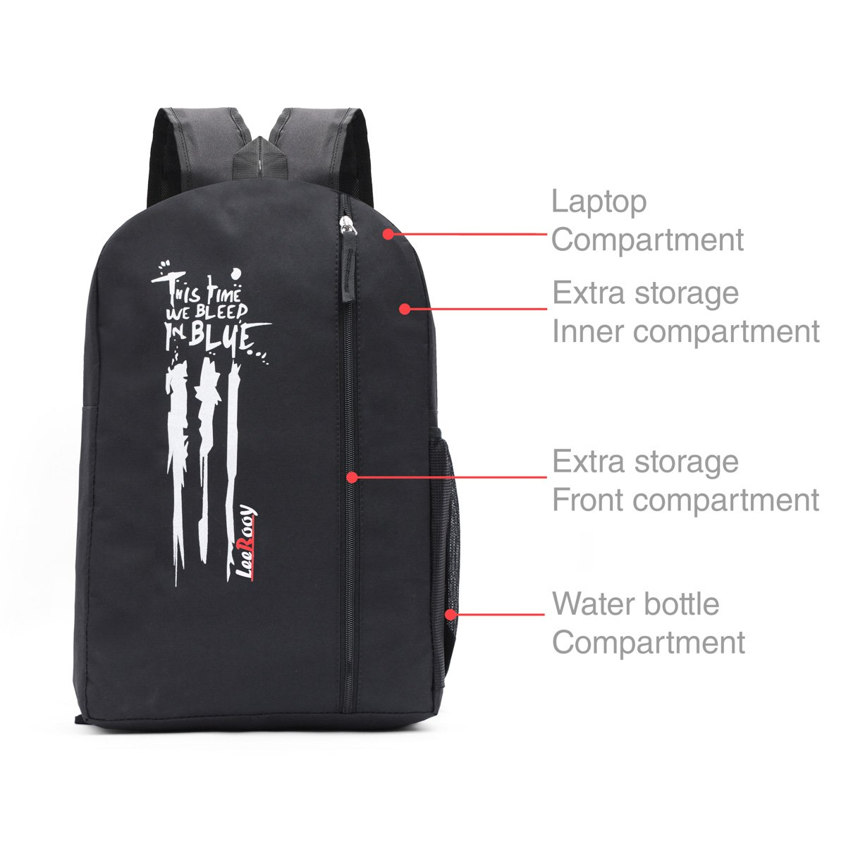 940bafd719 LeeRooy Classic Nylon 20 L Black Backpack As Laptop Bag School Bag College  Bag Messenger Bag Casual Bag for Men and Women  Amazon.in  Bags