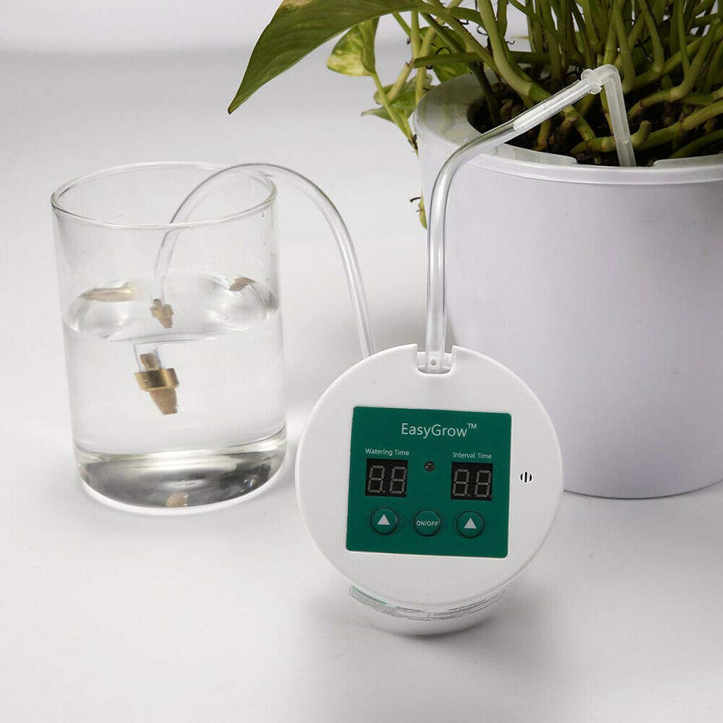 Sunnyys Auto Water Timer Portable Garden Plant Drip Irrigation Kit Self Watering System