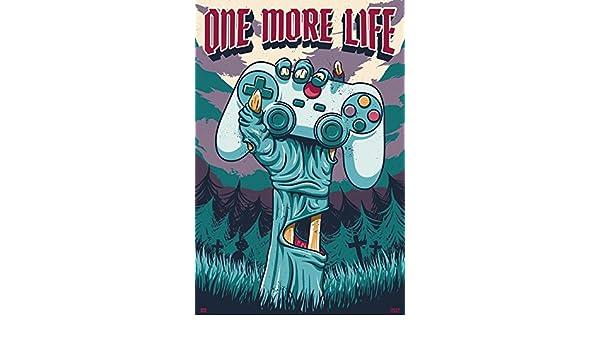 Grupo Erik Editores Poster 61 x 91.5 cm Gamer One More Life 61 x 91.5 cm
