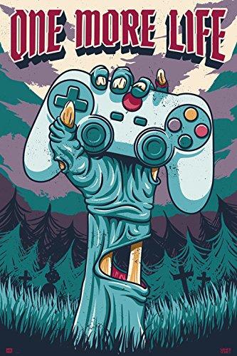 Poster con dise/ño Gamer One More Life Grupo Erik Editores GPE5230 61 x 91.5 cm