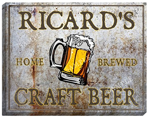 ricards-craft-beer-stretched-canvas-sign-16-x-20