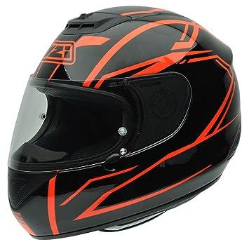 NZI 010266G732 Spyder V Graphics Outline Casco de Moto, Negro y Rojo, Talla 55