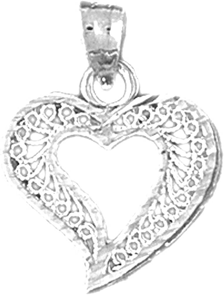 18K White Gold Special Wife Pendant JEWELS OBSESSION 18K Special Wife Pendant Made in USA