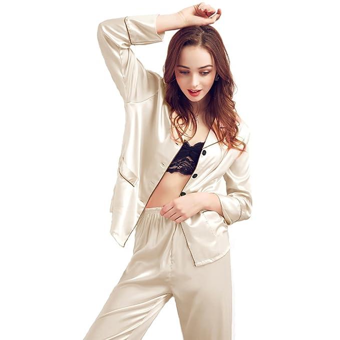 0bc3682680 TT Global Pijamas de satén Homewear Verano Loungewear