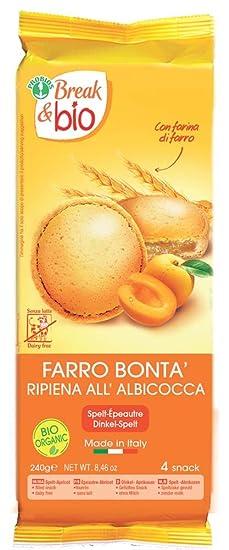 Probios Break&Bio Pastel de Espelta Relleno Al Albaricoque - 12 paquetes