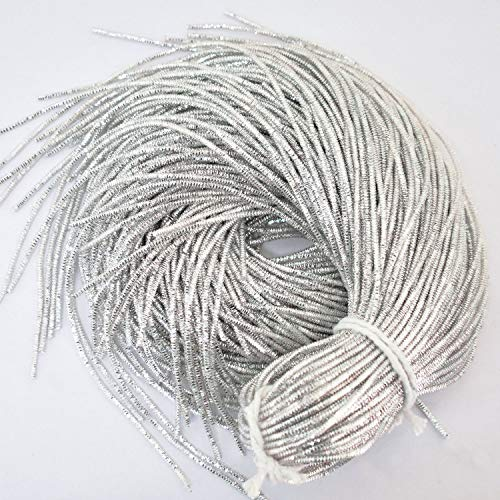 French Bullion Wire(Nakshi), Silver Color, 1MM, 25 Mtr(50 Gram)