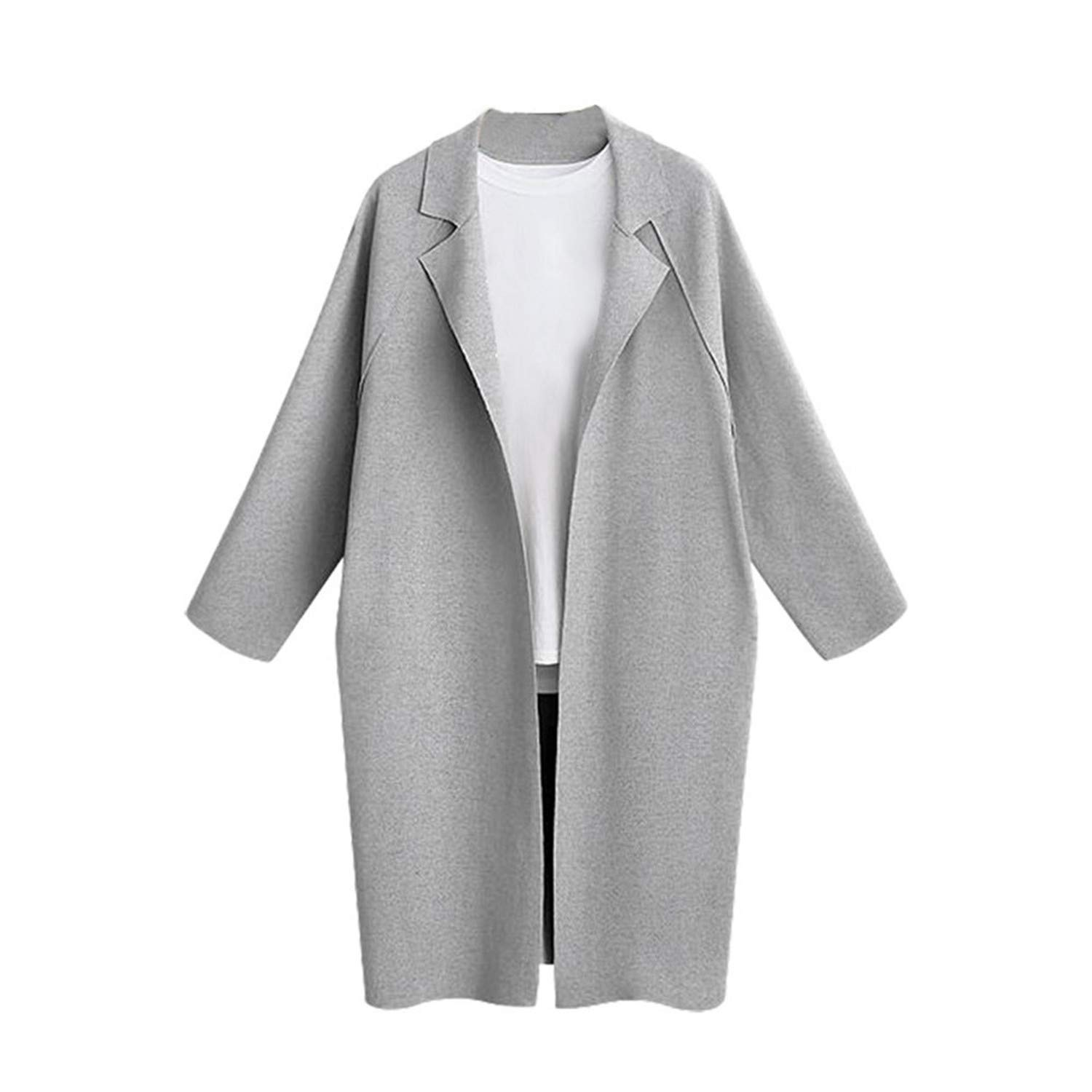 Amazon.com: Ashley Lauren Mia Winter Jackets New Women Wool Blend Coat Ladies Loose Solid Wide Lapel Oversize: Clothing