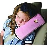 Almohadillas Para Cinturón, BlueSterCool Bebé Niños Ajustable Correa De Seguridad Almohada Hombro Proteccion Cinturones De Seguridad De Coches Reposacabezas [Tener Un Buen Dormir En El Coche] (Rosado)