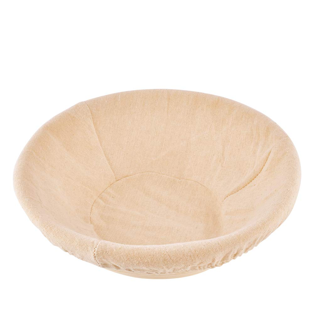 Haneye Proofing Rattan basket, 10 inch banneton Dough Bread Brotform Basket Sourdough Proofing Round shape Basket with removable lining for Home Bakers, 2 pack by Haneye (Image #6)
