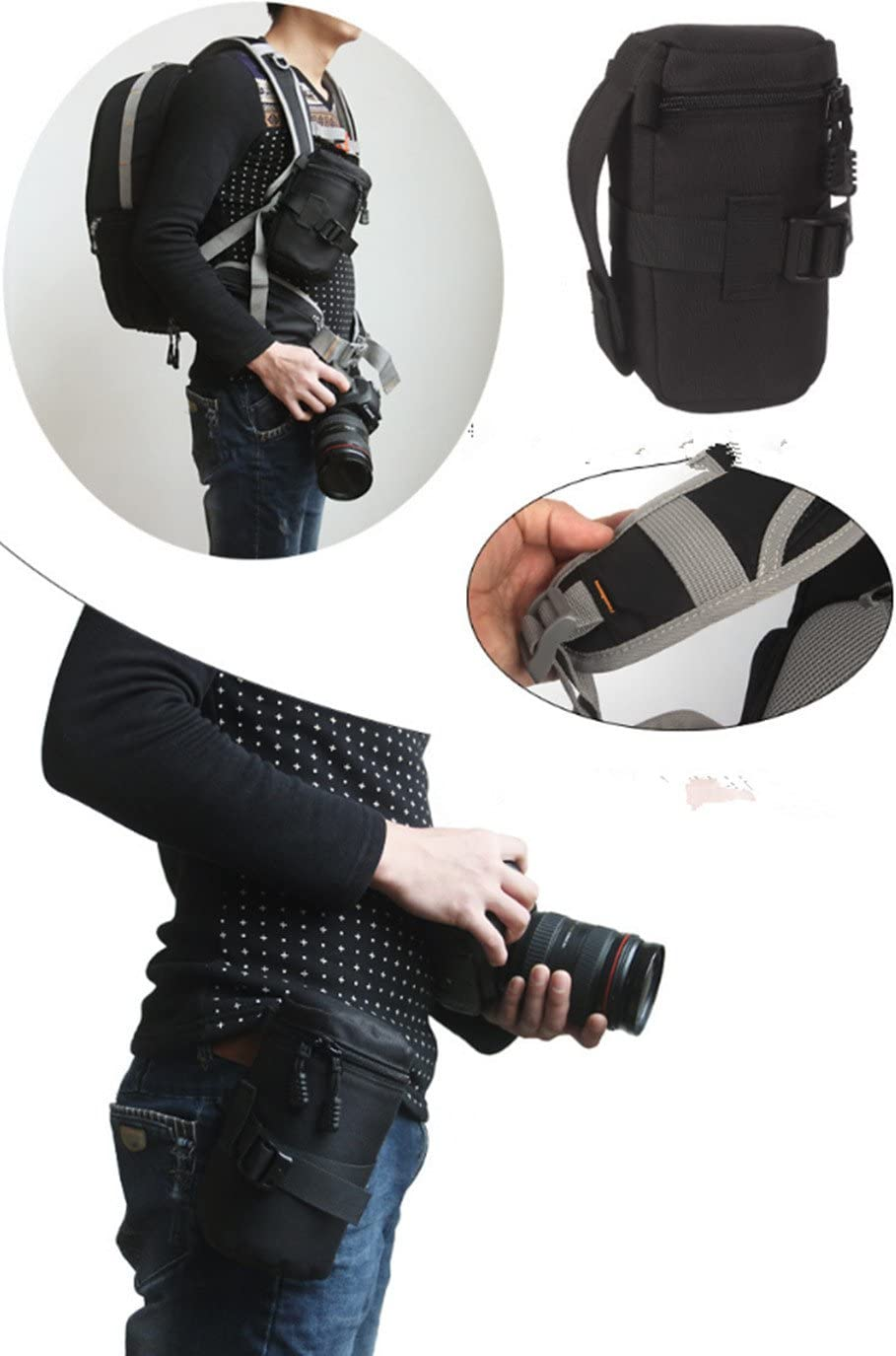 Waterproof and shockproof SLR camera lens package(L size)