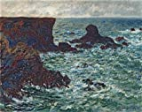 The High Quality Polyster Canvas Of Oil Painting 'Rocks At Port-Coton, The Lion, 1886 By Claude Monet' ,size: 16x20 Inch / 41x51 Cm ,this High Quality Art Decorative Prints On Canvas Is Fit For Game Room Decor And Home Decor And Gifts