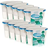 LIVIVO  Pack of 10 x 500ml Interior Dehumidifiers with Fast Acting Natural Hydrophilic Crystals – Ideal for Use Around The Home, Office, Caravans and Small Spaces - Helps Prevent Damp, Mildew, Mould and Condensation - Absorbs Up to 3 Times Its Own Weight in Water – Noticeable Results in Just 3 Days – Lasts Up To 8 Weeks