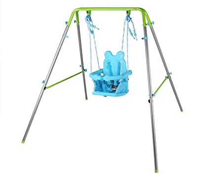 HLC Columpio Infantil Plegable / Diseño de Panda / Columpio para bebé de 9-36