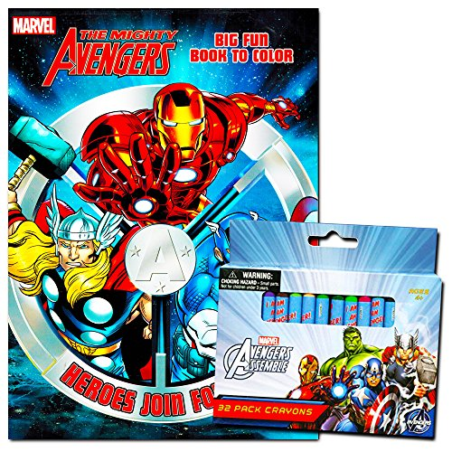 Marvel Avengers Coloring Book With Avengers Crayons Set