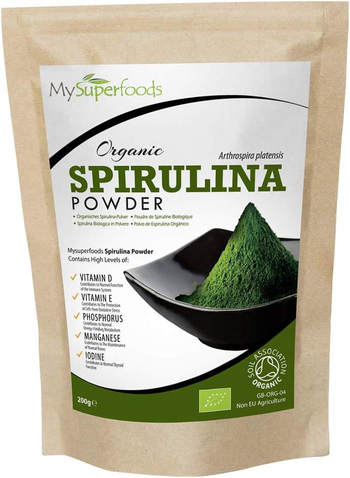 Polvo orgánico de espirulina 200g