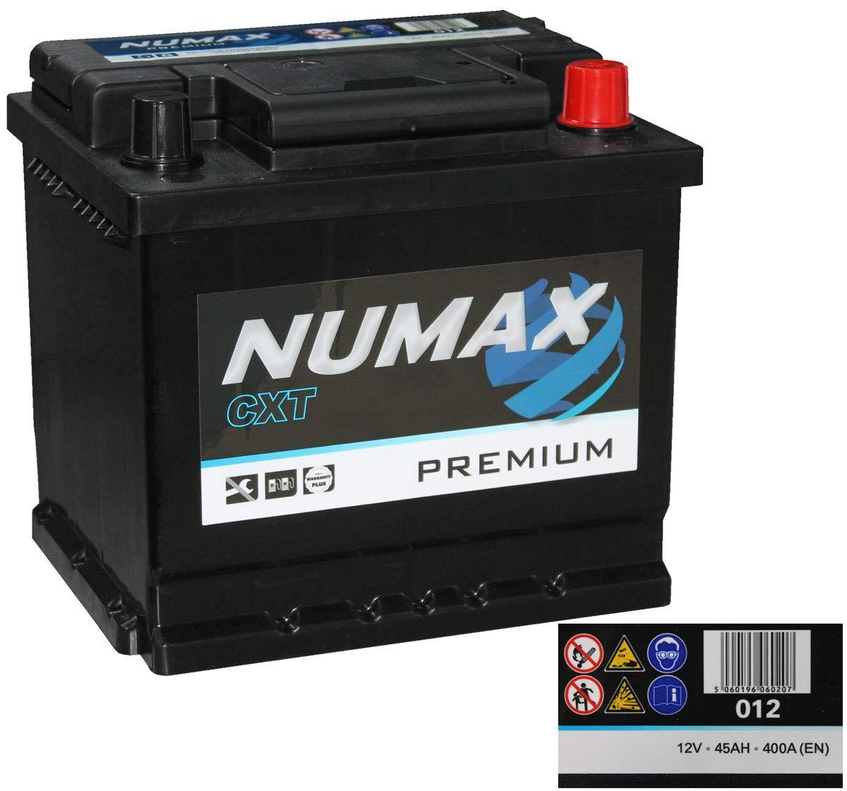 En Numax  Premium 012  Car Battery  12V 45Ah 400 Amps