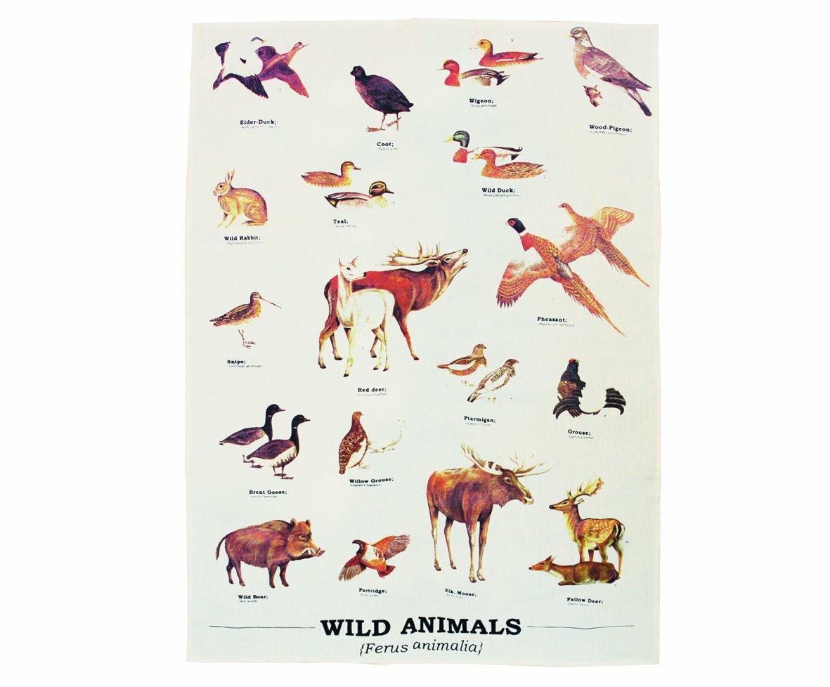 Gift Republic GR270068 Wild Animals Tea-Towels