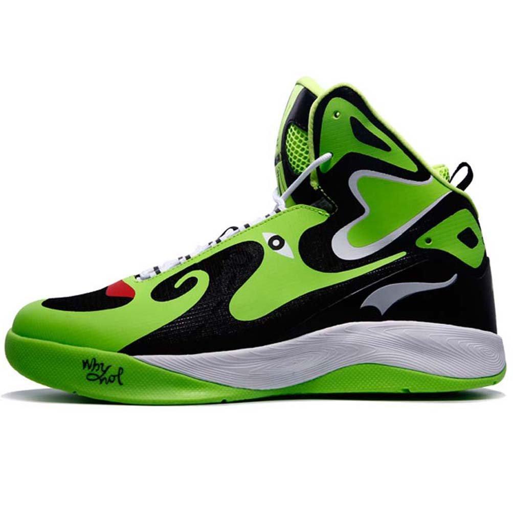 YiDiar Men's Athletic Basketball Shoes Outdoor Boy's Trainer Sports Sneakers B06VXYRNSJ 10 D(M)US =11.02inch|Green/Black