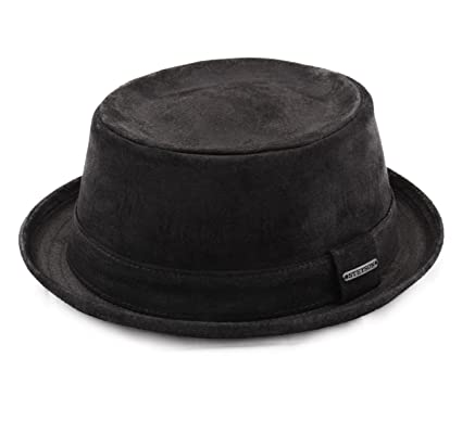 bb46fe9c1ac Stetson - Porkpie Hat Leather Men Pork Pie Pig Skin  Amazon.co.uk ...