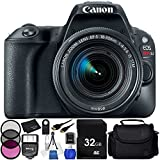 Canon EOS Rebel SL2 DSLR Camera with 18-55mm Lens (Black) - 10PC Accessory Bundle Includes 32GB SD Memory Card + Medium Carrying Case + Digital Slave Flash + Universal Wireless Remote + MORE