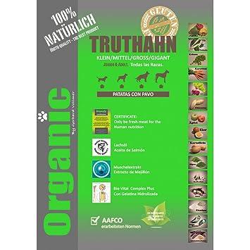 Organic Truthahn 14Kgs con Pavo pienso Natural para Perros: Amazon.es: Productos para mascotas