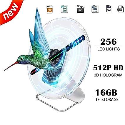 Amazon.com: Ventilador holograma 3D con pantalla holográfica ...