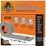 Gorilla Tape Small Roll Tough Pack including Black, White, Silver and Crystal Clear Duct Tape