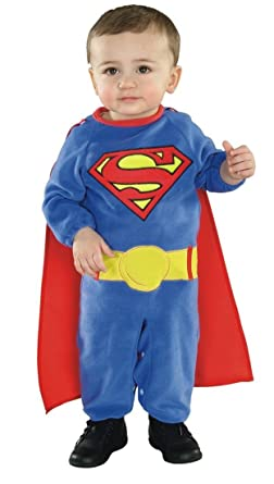 8ff2ad0bdd7b Amazon.com: Rubies Costume Co Superman Baby Infant Costume,Blue,Toddler:  Clothing