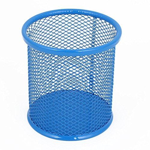 Barrel Lapis - Titular azul do metal Meshy Papelaria Pen Lápis Pot Escova Barrel