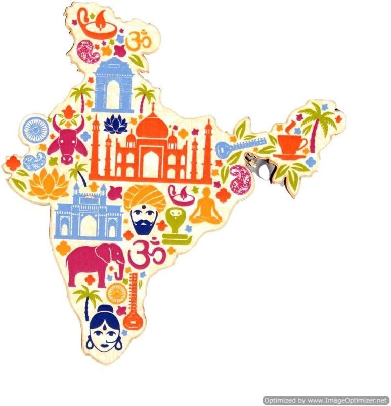 Skywalk Map Of India Fridge Magnets