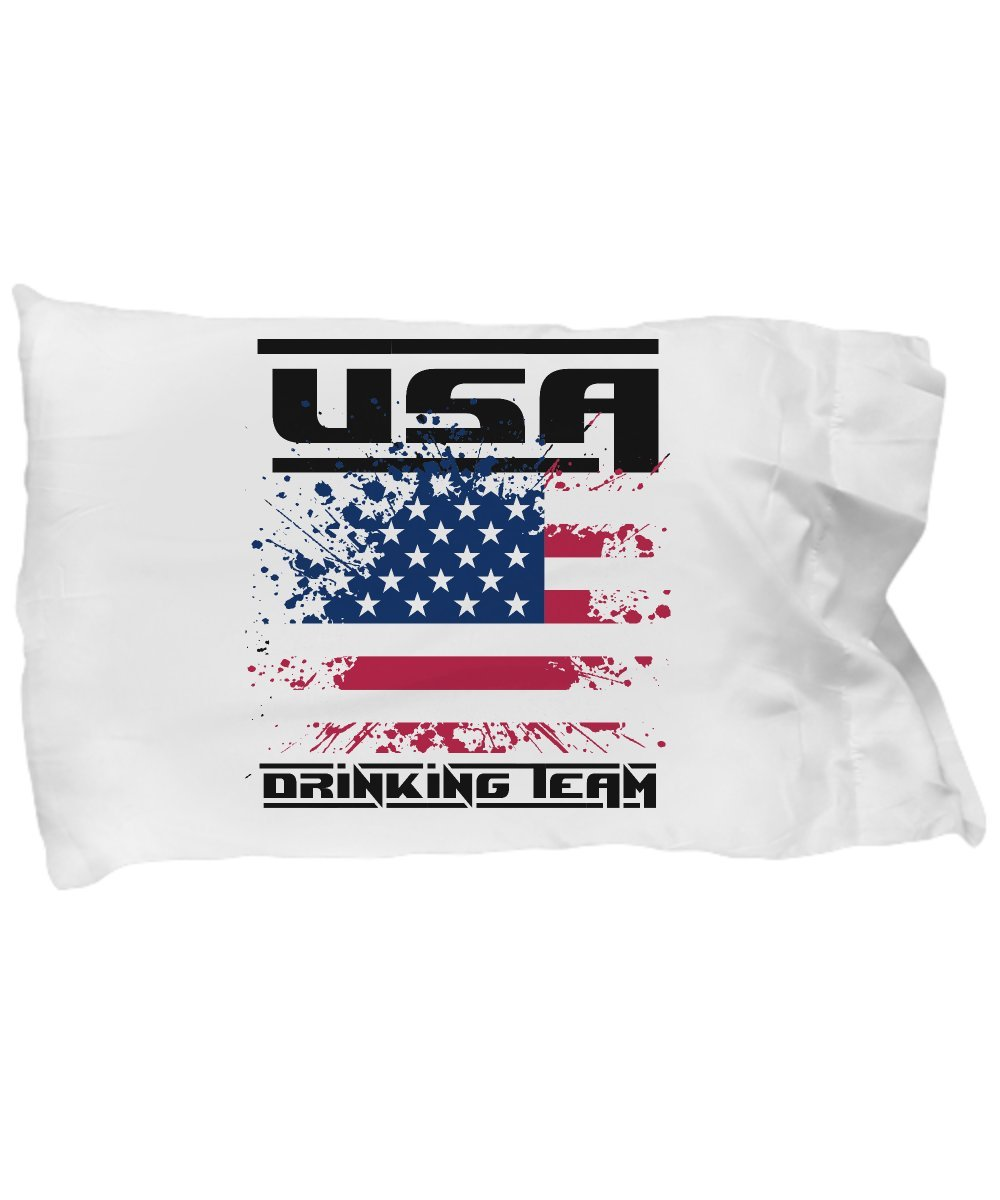Funny Novelty Gift For 4th of July USA Drinking Team Best Fourth of July, Independence, Day, America, USA, US, Beer Pillow Case