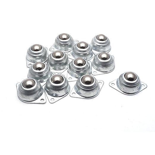 8 Pcs Flange Mounted Conveyor Roller Ball Transfer Units Silver Tone
