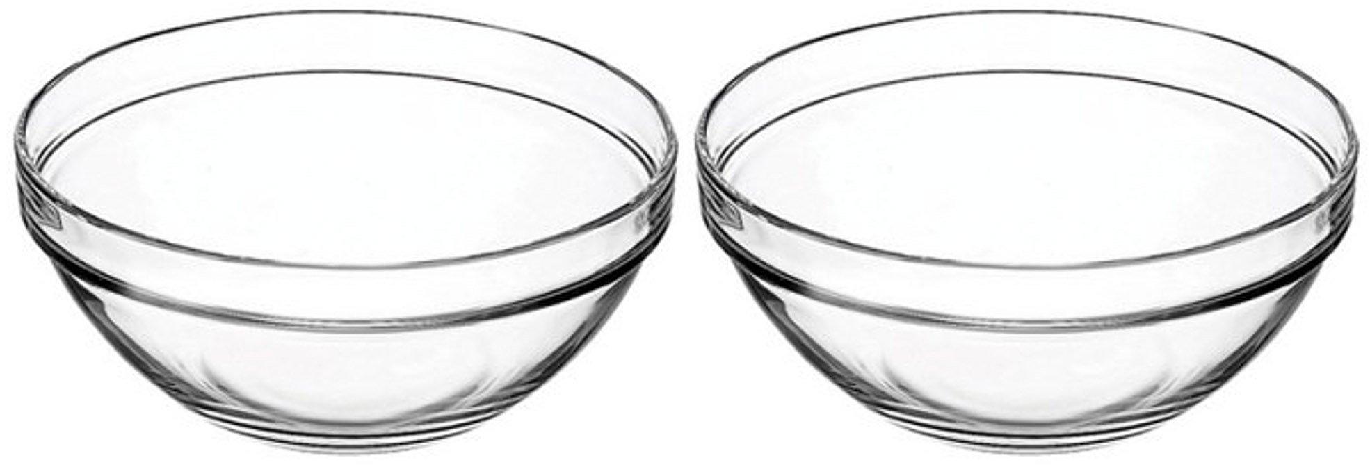 Set of 2 Vicrila 4 Liter Bake and Serve 10'' X 4.5'' Glass Bowls! Dishwasher Safe - Oven Safe - Microwave Safe - BPA FREE! Large Elegant 4 Liter Baking Glass Bowl! (2)