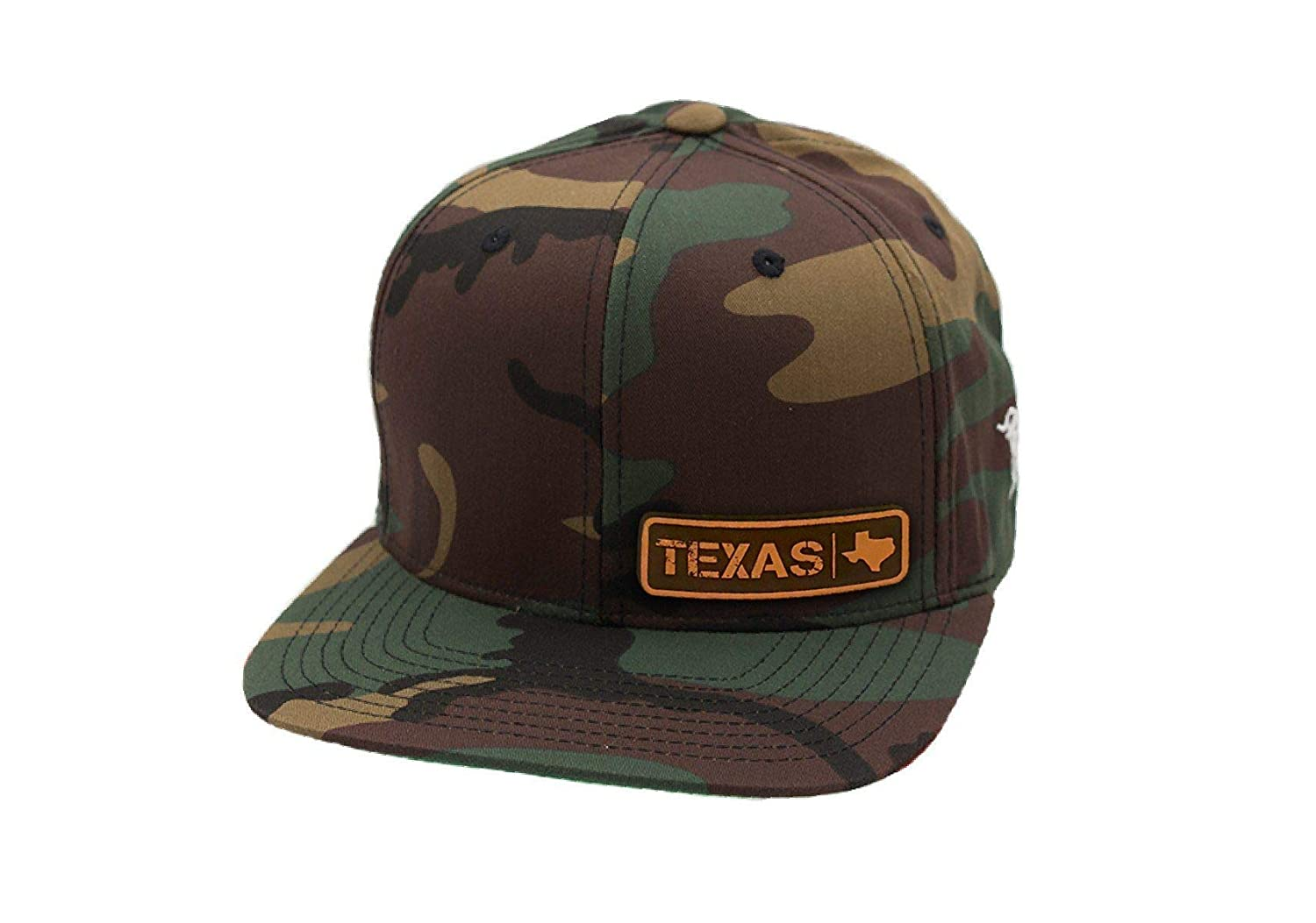 7b672e7ecf1 Branded Bills  Texas Native  Leather Patch Snapback Hat - OSFA Black at  Amazon Men s Clothing store
