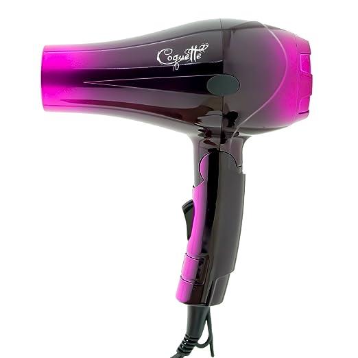 Secador de Pelo Profesional de Viaje Plegable Ligero con Difusor Coquette Pink (Rosa) 1000W - My Hair: Amazon.es: Belleza