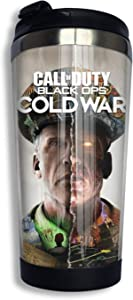 SEDSED Call-of-Duty_Black Ops Cold War Tumbler Cup 14 Oz Stainless Steel Vacuum Insulated Double Wall Travel Mug for Ice Drink,Hot Beverage Insulated Coffee Mug