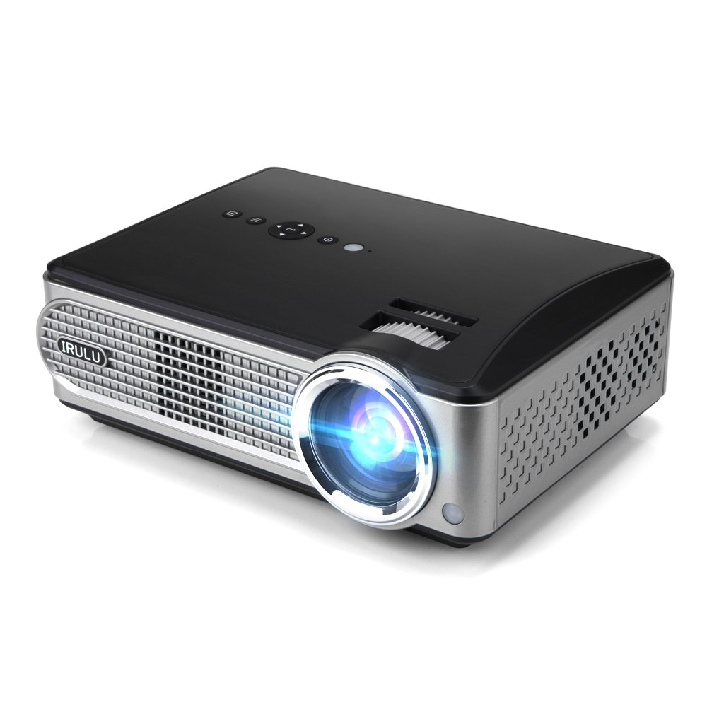 Video projector irulu p4 led hd projector 2800 lumens for Hd projector