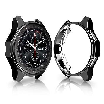 UKCOCO Funda Gear S3 Frontier/Classic, galvanoplastia Colorida Protector de TPU Suave Reemplazo Protector Caso Marco de la Cubierta para Samsung Gear ...