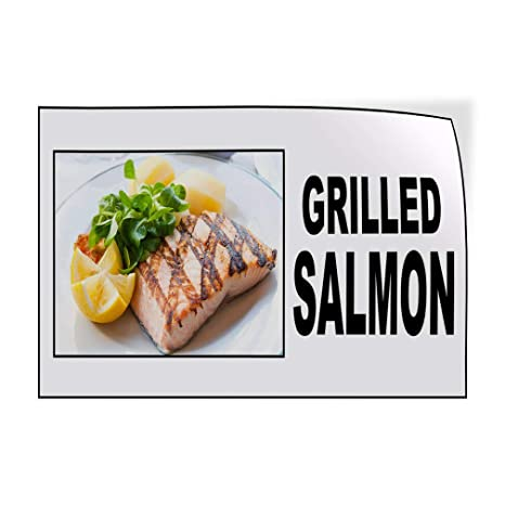 Amazon Com Decal Sticker Multiple Sizes Grilled Salmon