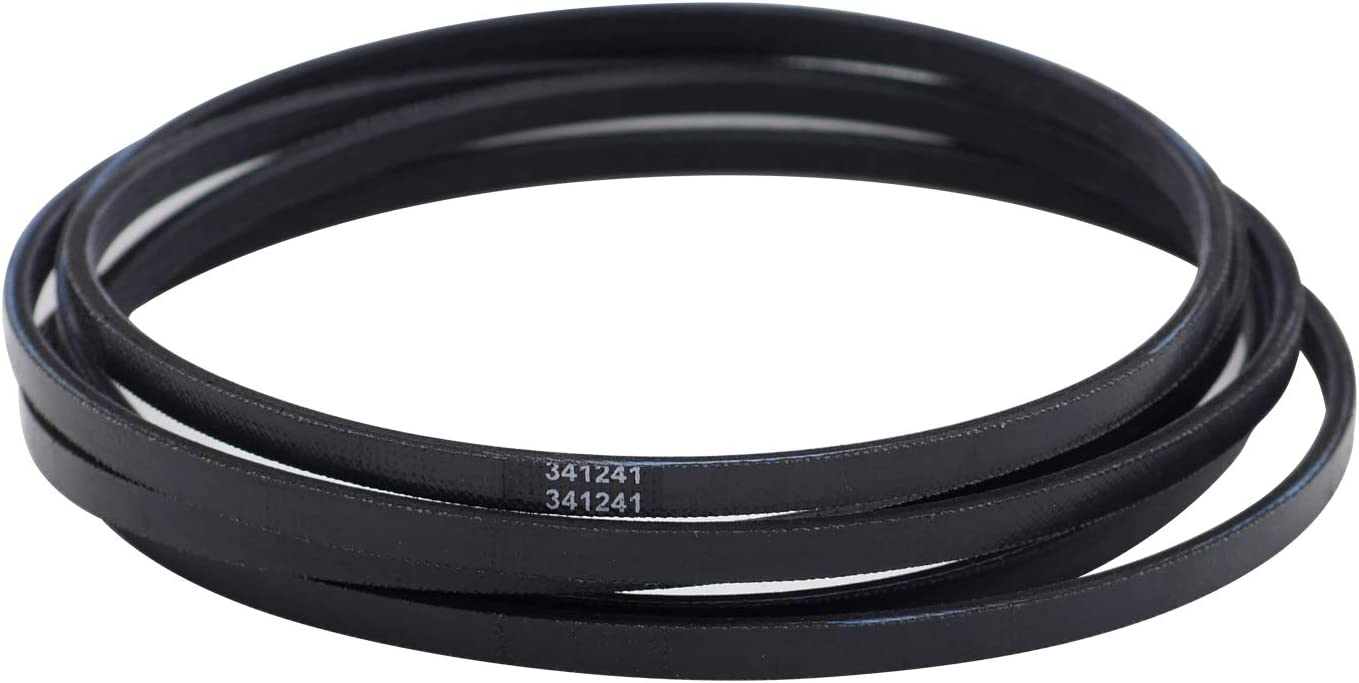 "DGQ 341241 Dryer Drum Drive Belt OEM Quality 92"" Dryer Belt Replace for Whirlpool Kenmore"